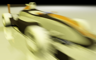 fast car with motionblur